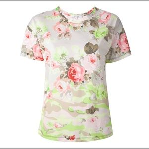 Carven floral print cotton Tee